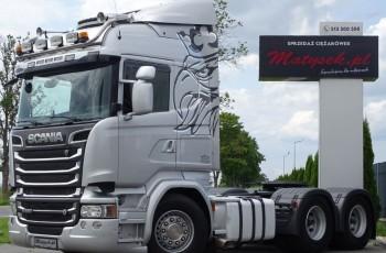 Scania SCANIA R 520 / V8 / 6X4 / RETARDER / SKÓRY / NAVI / I-COOL / 70 TON / OPTICRUISE + SPRZĘGŁO /