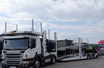 Scania P 410 / EURO LORA / ROLFO EGO 4 / AUTOTRANSPORTER / RETARDER / EURO 6 / 9 AUT / AUTOLAWETA /