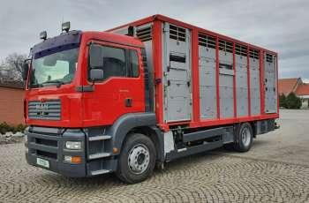 MAN TGA 410 do bydła Świnowóz, 2 poziomy, klima, pneumatyka 2001